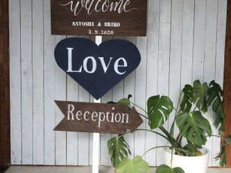 wedding sign 11 ウェディングサイン 【名前と日付オーダー可】の画像