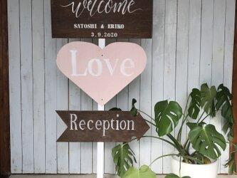 wedding sign 12 ウェディングサイン 【名前と日付オーダー可】の画像