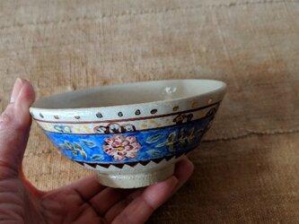 金彩青更紗ご飯茶碗の画像