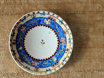 金彩青更紗丸皿の画像