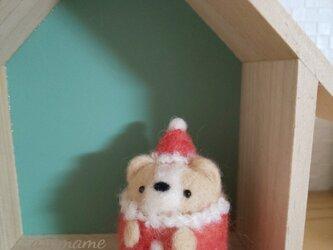 クリスマスコスチューム つぶらな瞳のチワワさん 羊毛フェルトの画像
