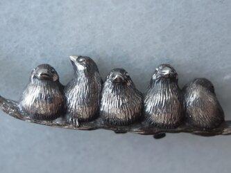 マオ様オーダー・文鳥のプラチナペンダントトップの画像