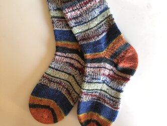 No.227 送料込手編み靴下の画像