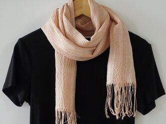 桜染め 手織りシルクストール ST08の画像