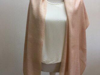 草木染め 手織りシルクストール桜 ST12の画像