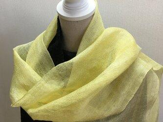 草木染め 手織りシルクストール ST11の画像