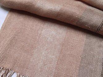 草木染め 手織りシルクストール桜 ST09の画像