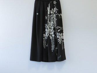 K様ご予約品*アンティーク着物*花模様留袖のスカート・スヌードセット(裏地つき)の画像