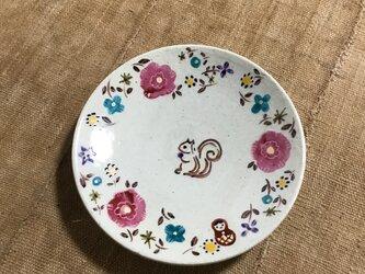 ざおうの森・とっても使いやすい丸皿・リス・ピンクの画像