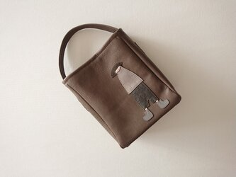 annco leather onehandle bag [gray]の画像