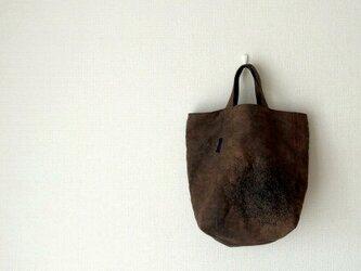 ステッチと柿渋かばん - 柿渋染めのトートバッグの画像