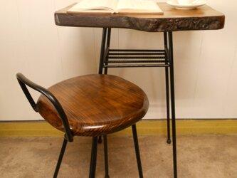 けやきアイアンテーブル(テーブルのみ)12-15の画像