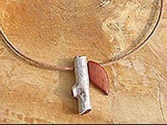 niw・シルバーネックレス 枝の画像