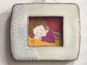 〈ミッキーマムさま専用〉陶額入り日本画の画像
