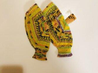 №229 手編みミトン送料込 銀杏並木通りの画像