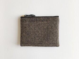 手織りミニポーチ(Accessory case bird's-eye cashmere)の画像