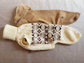 犬服 B様オーダーメイド品サルーキ用パーカー&セーターの画像