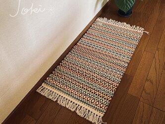 手織りローゼンゴンフロアマット カラフルMIXの画像