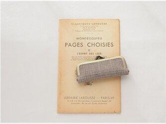 ■手紡ぎ、手織りシルク・リネンのがま口印鑑ケース / ■ hanko case (gmi-ab)の画像
