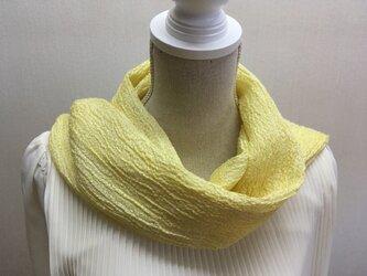 草木染め 手織りシルクストール ST07の画像
