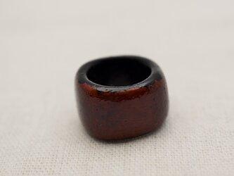 指輪 8号 朱漆朱合漆黒漆の画像