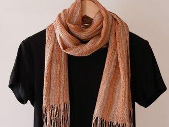 草木染め 手織りシルクストール ST13の画像