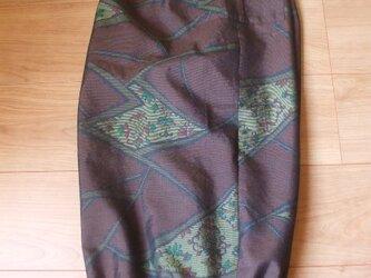 アンティーク大島紬からゆったりかぼちゃパンツ 絹 裏付きの画像