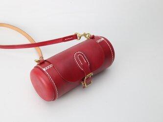 【切線派】★カプセル★ 本革手縫いバケットショルダーバッグの画像