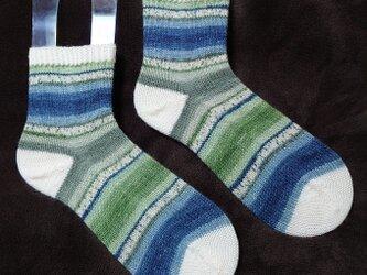 手編み靴下 opal 9515の画像