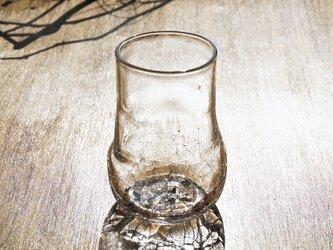 無色透明のグラス - 「KAZEの肌 」・#354・ 高さ10.5cmの画像