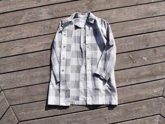 限定2枚 unisex coat~otokomae coat~check コットンコートの画像