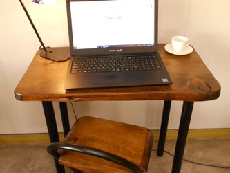 ひのきアイアンテーブルイスセット12-16の画像