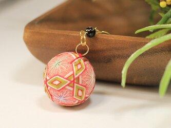 桜餅手毬 バッグチャーク・キーホルダーの画像
