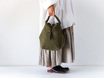 SUI PROFILE BAG(washカーキ)[受注生産]の画像