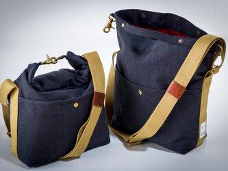 SUI ROLL SHOULDER BAG(washネイビー)[受注生産]の画像
