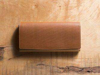 Basic Long Wallet #コニャックの画像