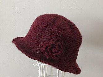 送料無料‼️ウール お花のお帽子の画像