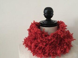 ロービングシャギースヌード/REDの画像