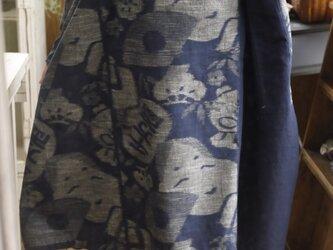 久留米絣ワンピースの画像