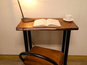 ひのきアイアンテーブルイスセット12-17の画像