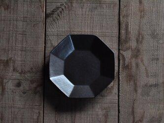 八角4.5寸皿/黒の画像