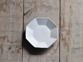八角4.5寸皿/白の画像
