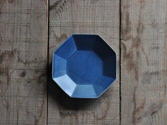 八角4.5寸皿/青の画像