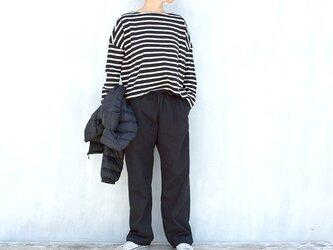 イージーパンツ(コットンキャンバス)濃紺の画像