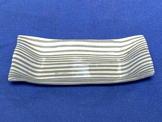 ストライプ角皿の画像