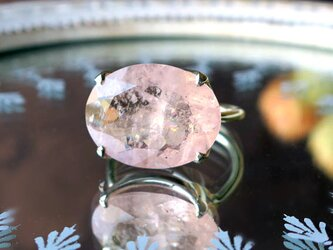 モルガナイト(ピンクアクアマリン) SVリング-aの画像