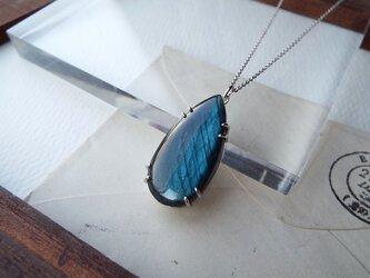 【一点物】ラブラドライトのネックレスの画像