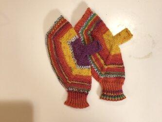 №232 手編みミトン送料込 ラディッシュの画像