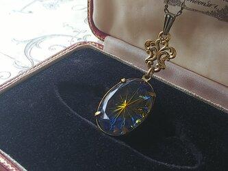ヴィンテージ Sapphire/Topaz Prism-Star (oval)ネックレスの画像