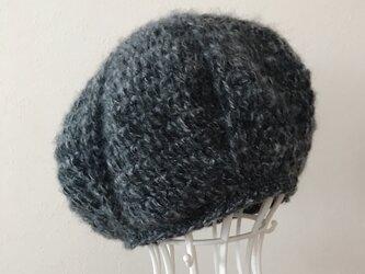 モヘアのまあるいニット帽の画像